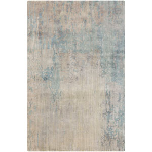 Watercolor Light Gray and Taupe Rectangular: 2 Ft x 3 Ft Rug