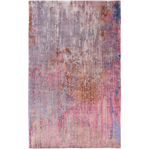 Watercolor Eggplant and Violet Rectangular: 2 Ft x 3 Ft Rug