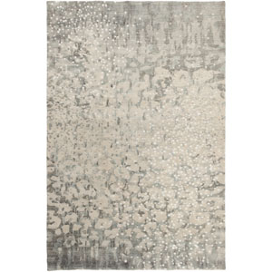 Watercolor Charcoal and Ivory Rectangular: 2 Ft x 3 Ft Rug