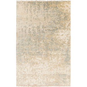 Watercolor Slate and Beige Rectangular: 2 Ft x 3 Ft Rug