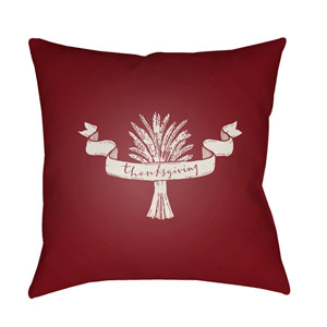 Red Wheat 20-Inch Throw Pillow with Poly Fill