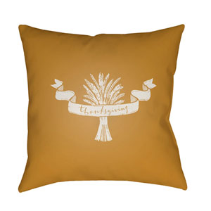 Yellow Wheat 18-Inch Throw Pillow with Poly Fill