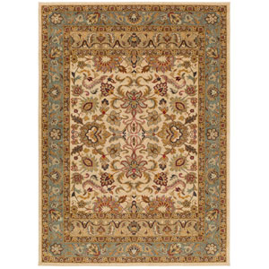 Willow Lodge Neutral and Green Rectangular: 7 Ft. 10-Inch x 9 Ft. 10-Inch Rug