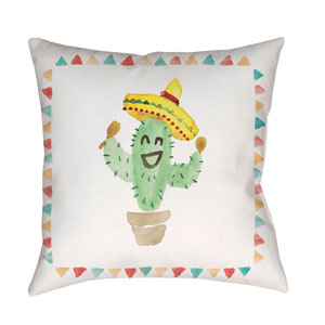 Cactus Multicolor 20 x 20-Inch Throw Pillow