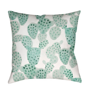 Prickly II Green and Neutral 20 x 20-Inch Throw Pillow
