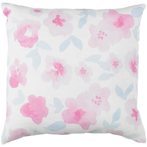 Flowers Multicolor 18 x 18-Inch Throw Pillow