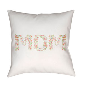 Mom Multicolor 18 x 18-Inch Throw Pillow