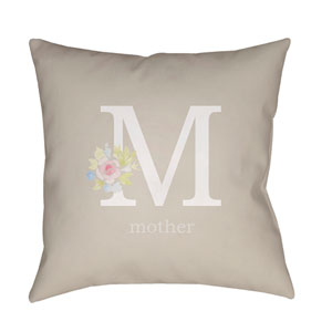 Mother Multicolor 18 x 18-Inch Throw Pillow