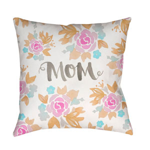 Mom II Multicolor 18 x 18-Inch Throw Pillow