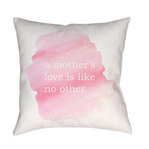 No Other Neutral and Pink 18 x 18-Inch Throw Pillow