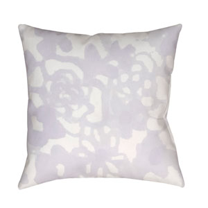 Flowers II Purple and Neutral 20 x 20-Inch Throw Pillow