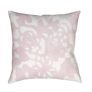 Flowers II Pink and Neutral 18 x 18-Inch Throw Pillow