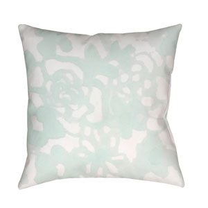 Flowers II Green and Neutral 18 x 18-Inch Throw Pillow