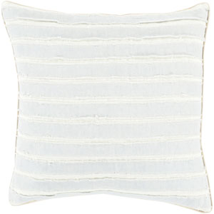 Willow Blue and Neutral 22-Inch Pillow Cover