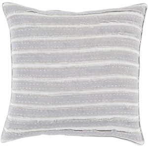 Charm and Comfort Mauve and Light Gray 22-Inch Pillow with Poly Fill