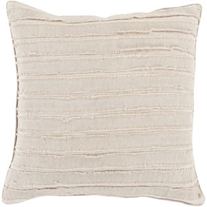Charm and Comfort Taupe 18-Inch Pillow with Down Fill