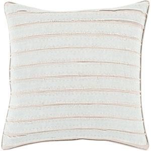 Charm and Comfort Slate and Taupe 20-Inch Pillow with Down Fill