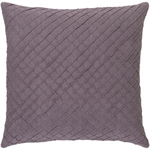 Wright Mauve 22-Inch Pillow with Down Fill