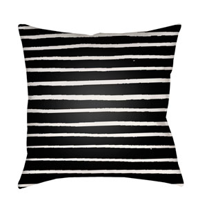 Stripes Black and White 18 x 18-Inch Throw Pillow