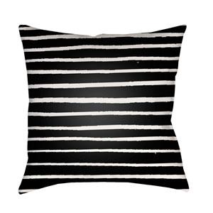 Stripes Black and White 20 x 20-Inch Throw Pillow