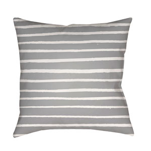 Stripes Gray and White 18 x 18-Inch Throw Pillow