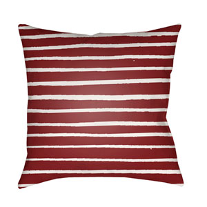 Stripes Red and White 18 x 18-Inch Throw Pillow