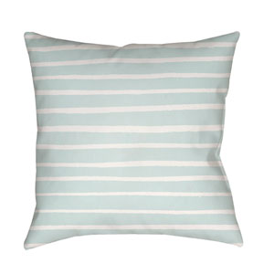 Stripes Blue and White 18 x 18-Inch Throw Pillow