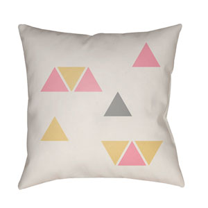 Triangles Multicolor 20 x 20-Inch Throw Pillow