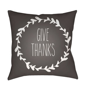 Gray Wreath 18-Inch Throw Pillow with Poly Fill