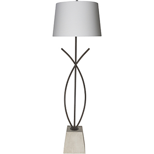 Wyatt Natural Iron One-Light Floor Lamp