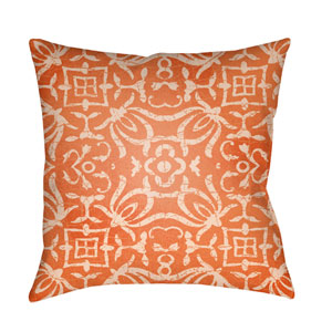 Yindi Bright Orange and Peach 18 x 18-Inch Pillow