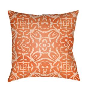 Yindi Bright Orange and Peach 20 x 20-Inch Pillow