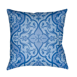 Yindi Bright Blue and Sky Blue 20 x 20-Inch Pillow