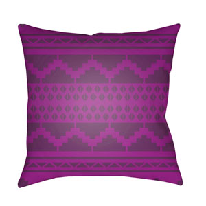 Yindi Bright Purple and Dark Purple 18 x 18-Inch Pillow