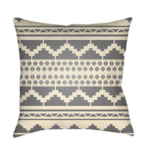 Yindi Medium Gray and Cream 22 x 22-Inch Pillow