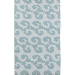 Yacht Club Pacific Blue and Cloud Blue Rectangular: 5 Ft. x 8 Ft. Rug