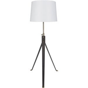 Zane Bronzed Base Floor Lamp