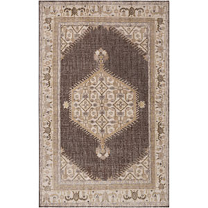 Zahra Taupe and Light Gray Rectangular: 5 Ft 6 In x 8 Ft 6 In Rug