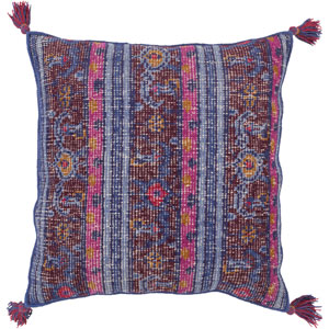 Zahra Blue and Purple 30-Inch Pillow Cover