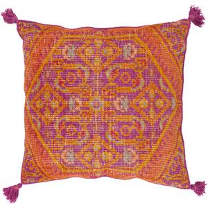 Zahra Purple and Orange 30-Inch Pillow Cover
