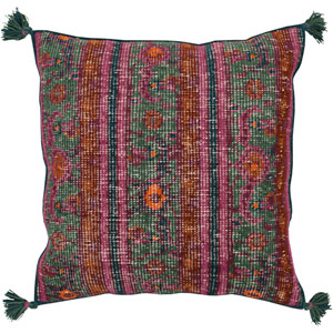 Zahra Green and Purple 30-Inch Pillow Cover