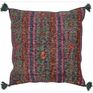 Vintage Heirloom Multicolor 30-Inch Pillow with Down Fill