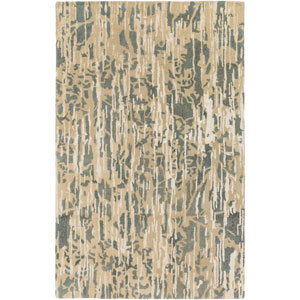 Zephyr Blue and Brown Rectangular: 2 Ft. x 3 Ft. Area Rug