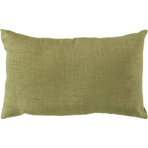 Stunning Solid Sea Foam 22-Inch Pillow with Poly Fill