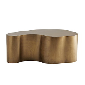 Meadow Antique Brass Accent Table