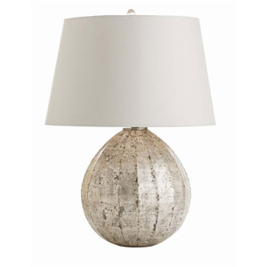 Edaline Distressed Silver Leaf 26-Inch One-Light Table Lamp