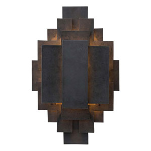 Trinidad Blackened Iron 22-Inch Two-Light Wall Sconce