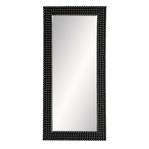 Paxton Black Stained Floor Mirror
