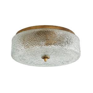 Voss Antique Brass Three-Light Flush Mount