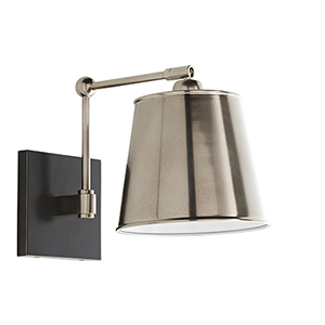 Watson Silver One-Light Wall Sconce